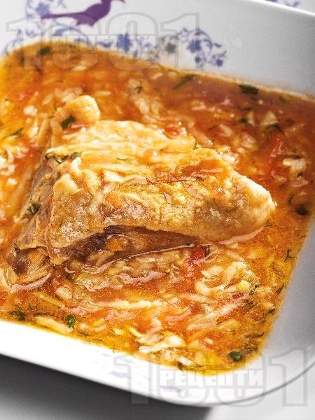 Задушено пиле със зеленчуков сос - снимка на рецептата